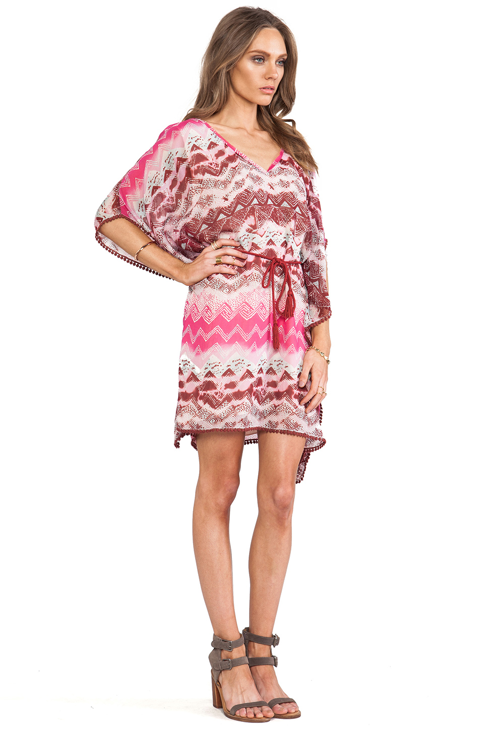 Look perfectly resort chic in the Tribal Caftan Dress by LAmade