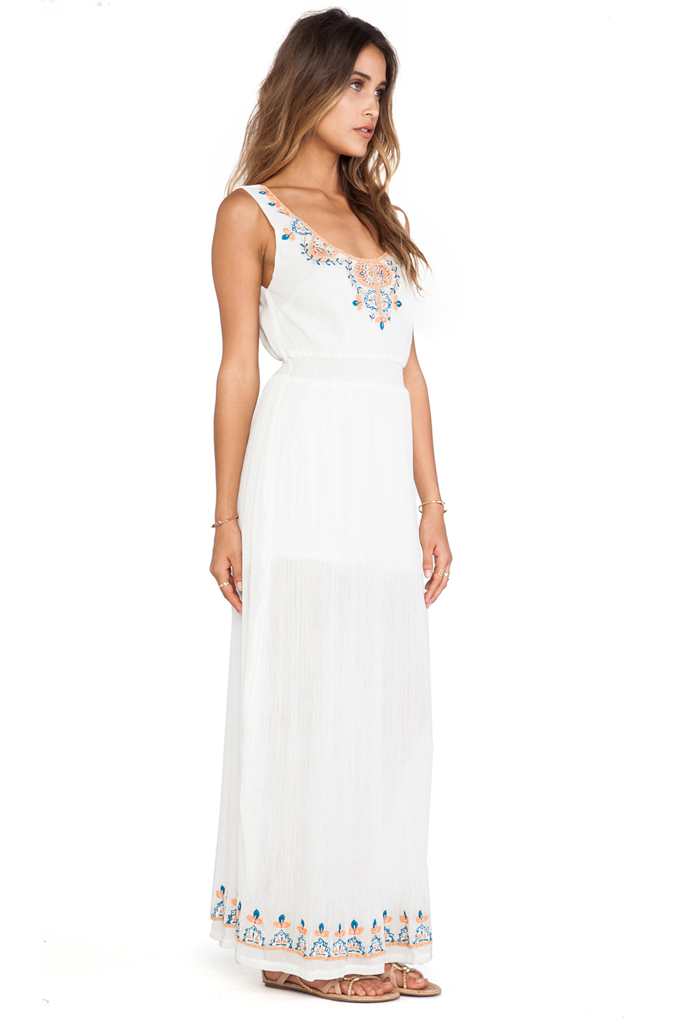 Lightweight and romantic with pretty beaded details, this dress is effortlessly elegant and doesn't need any added accessories.