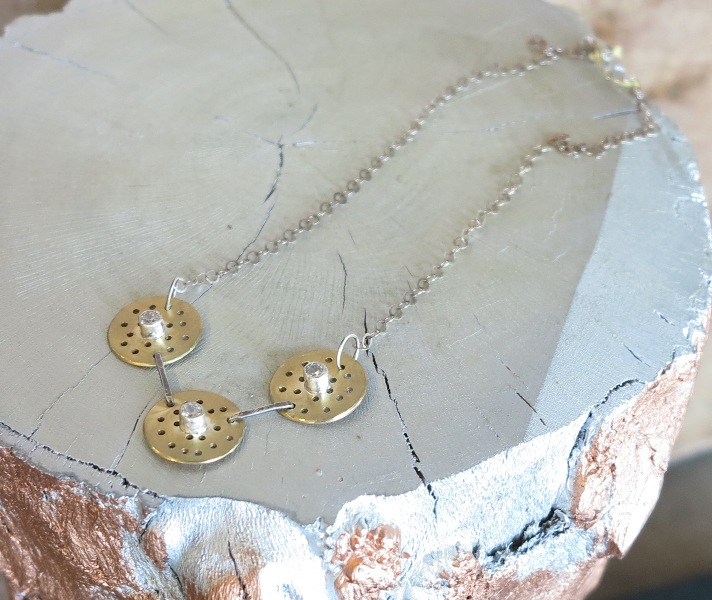 Silver & Brass Necklace
