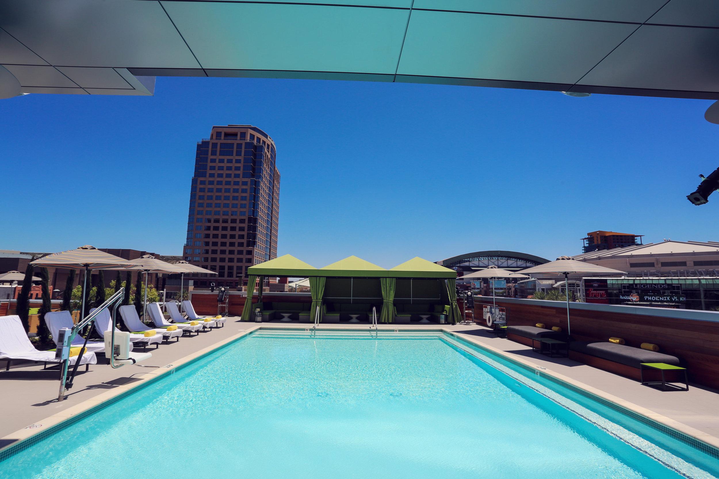 The pool at LUSTRE. image from ArizonaCocktailWeek.com