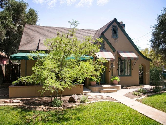 Todd & Donna Hime's Tudor in the F.Q. neighborhood. Image: azcentral.com