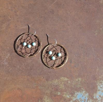 Dreamcatcher Earrings- Turquoise