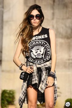 Pair your flannel with your favorite Chaser tee! Try  Love in the USA Tee ,  American Skull ,  Born to Rock Tee ,  Ferocious Tank
