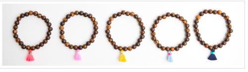 Wood Tassel Bracelets $15