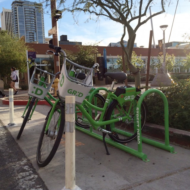 Store your finds in the Grid Bike basket! Image from downtownphoenix.com