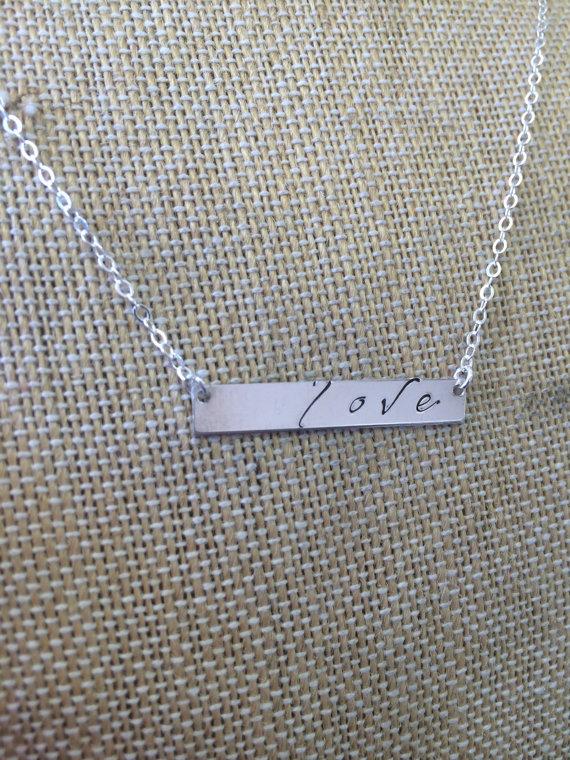 Horizontal Love Necklace