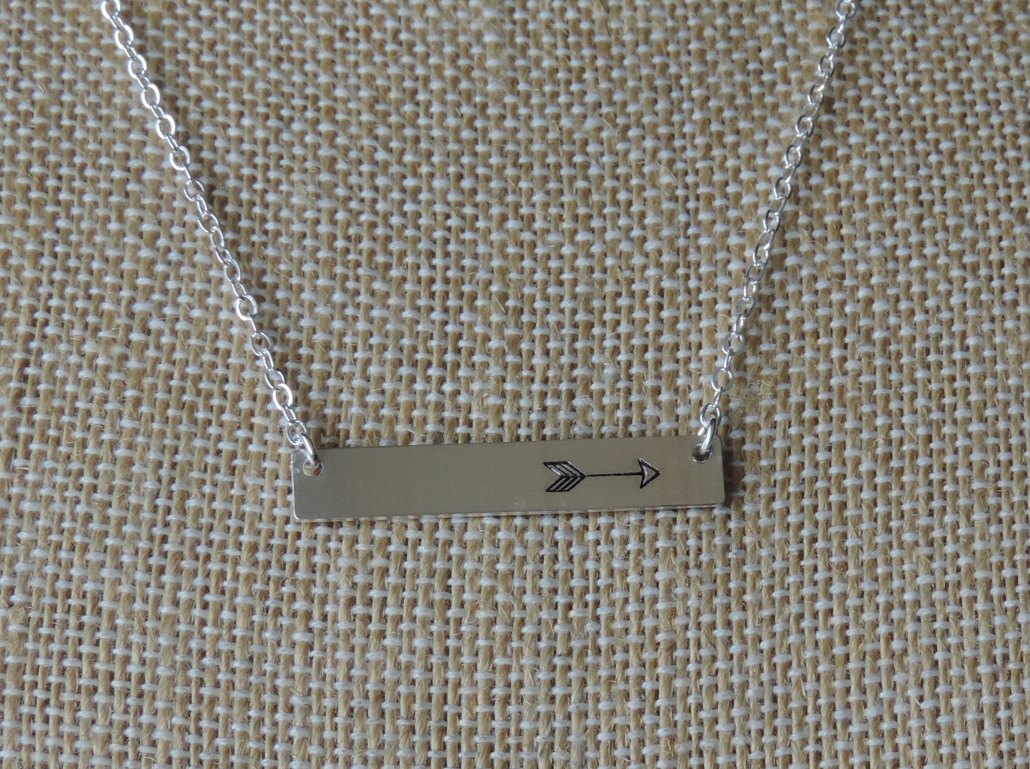 Hand Stamped Arrow Necklace