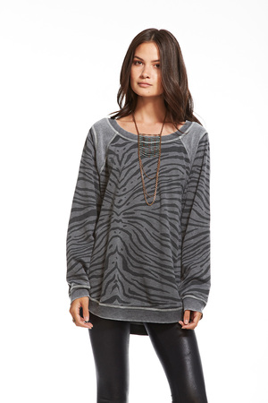 Zebra Fleece Pullover