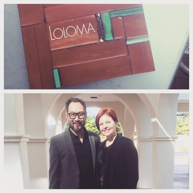 Bunky Boutique owner, Rachel Malloy with dear friend Caesar Chaves of the Phoenix Heard Museum. at the Loloma exhibit preview.