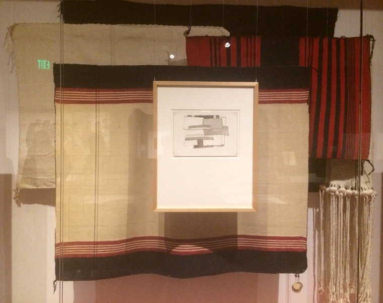 Tapestries and sketch in 'Loloma' at the Phoenix Heard Museum