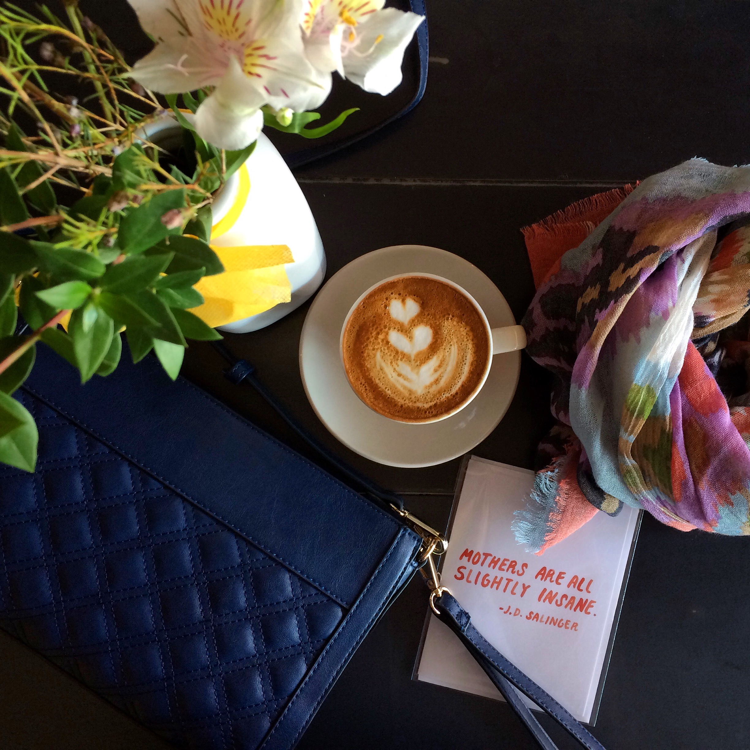 Treat mom to a morning coffee and springtime accessories