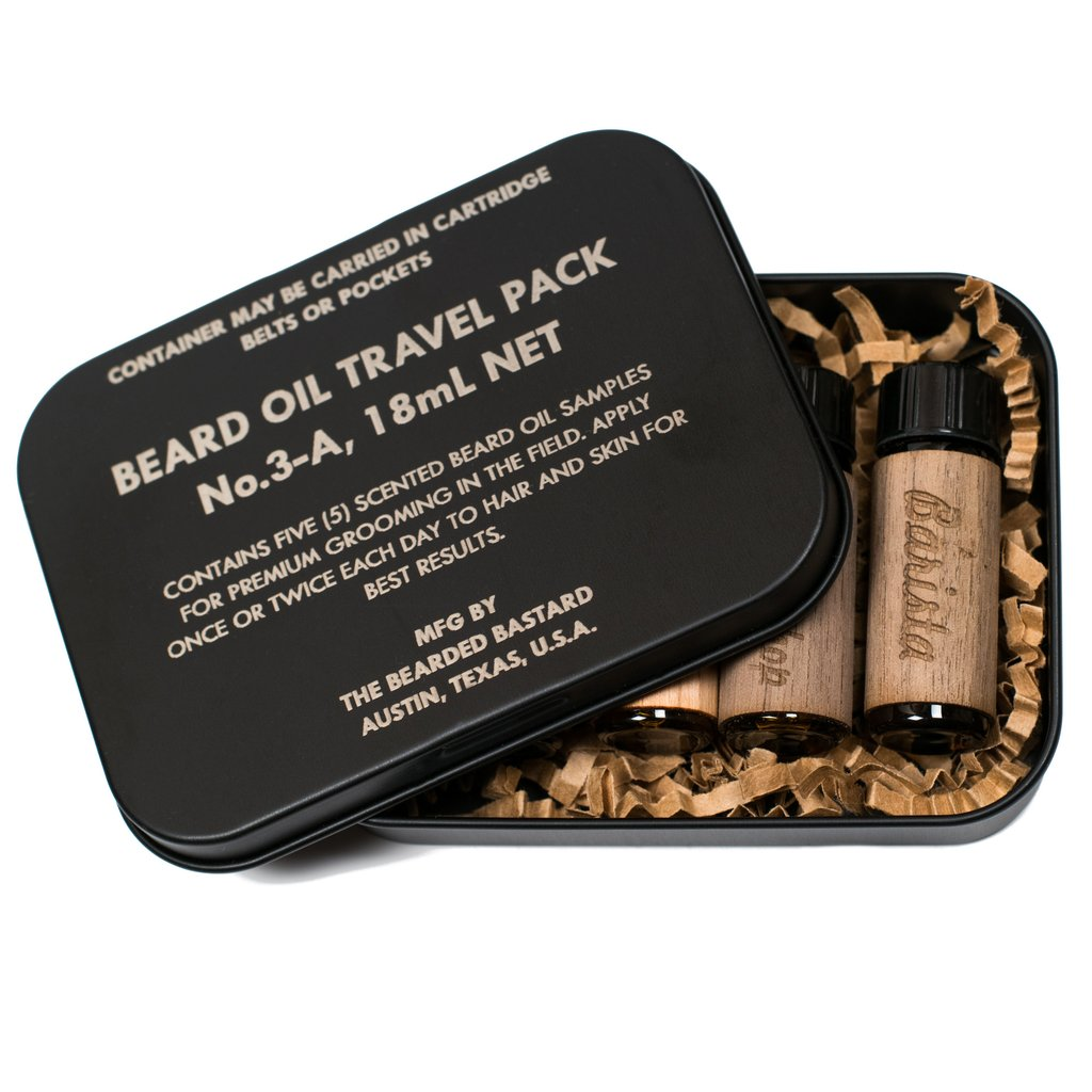 Looking for a gift? Pick up a Beard Oil Travel Pack with 5 fragrance samples!