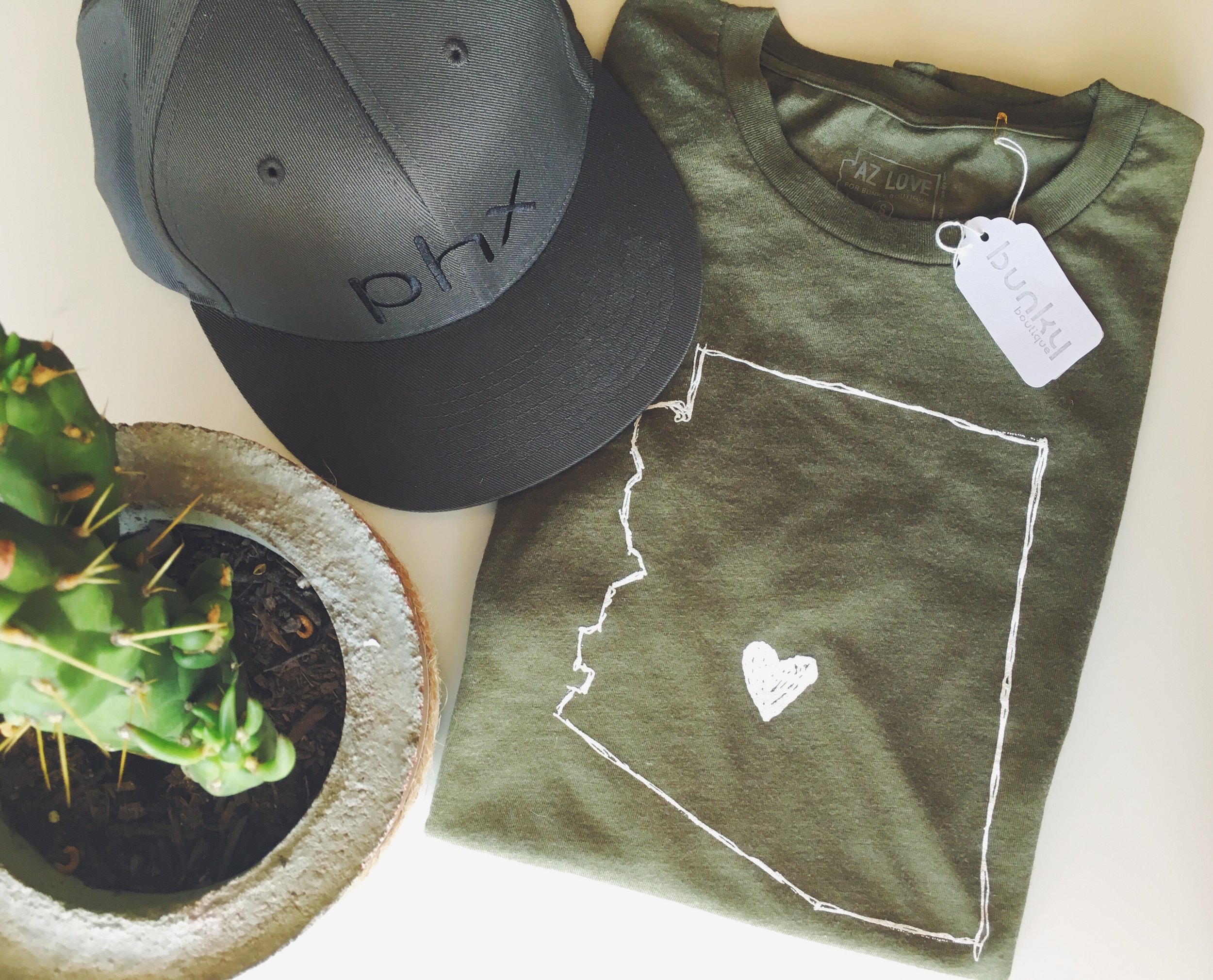 AZ Love Men's Tee in Army  and  PHX Flex Hat