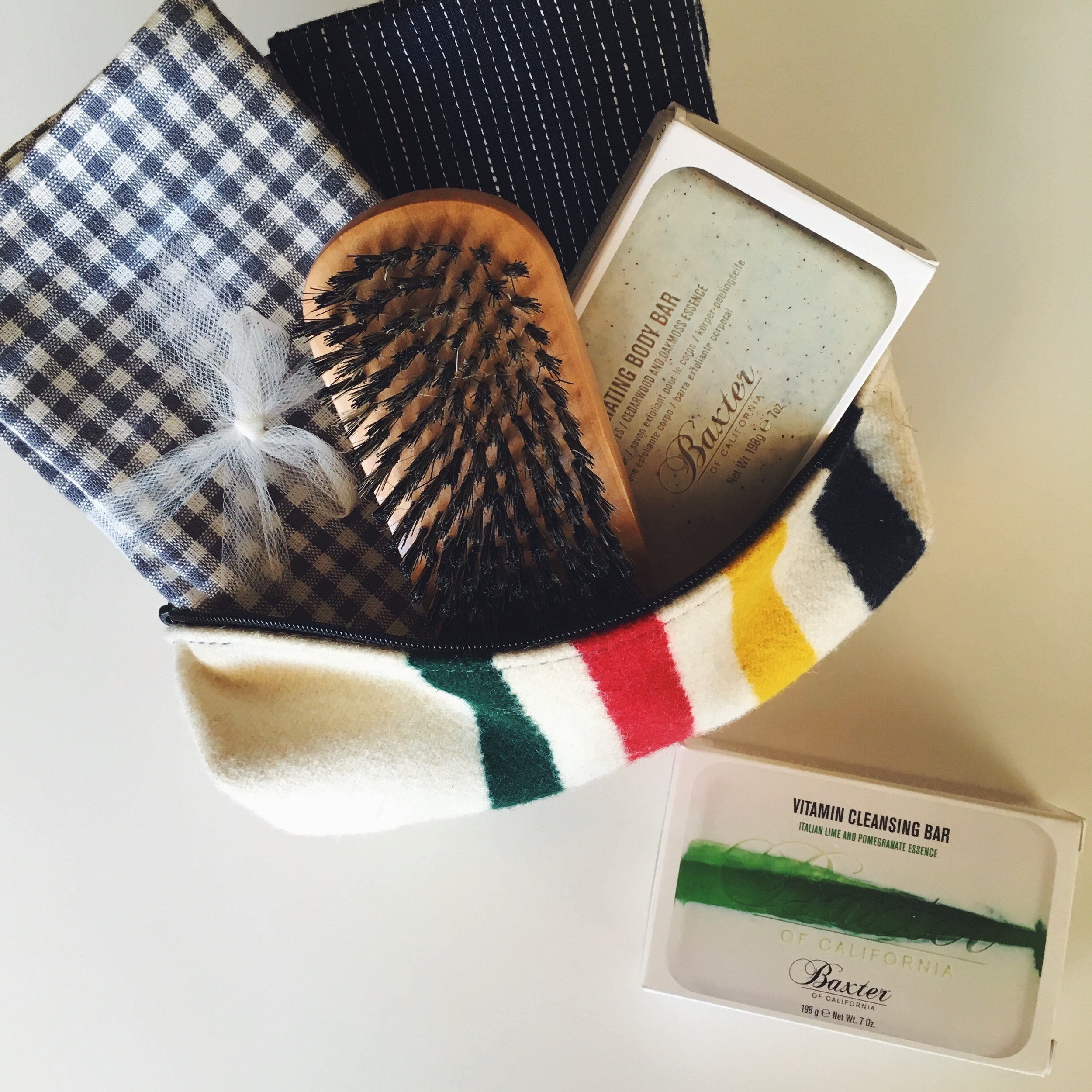 So dopp!  Pendleton wool dopp bags  make a handsome + useful gift. Fill one with skincare favorites.