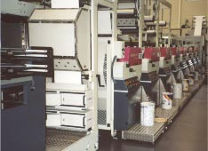 Bobst Lemanic 650 Flexographic Press equipped with a PRIME UV Curing System.