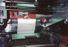 "PRIME UV Curing System on a 14"" Printco CI Press"