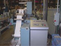 PRIME UV MiniScan 3C UV Curing System installed on a Propheteer Press Curing UV inks.