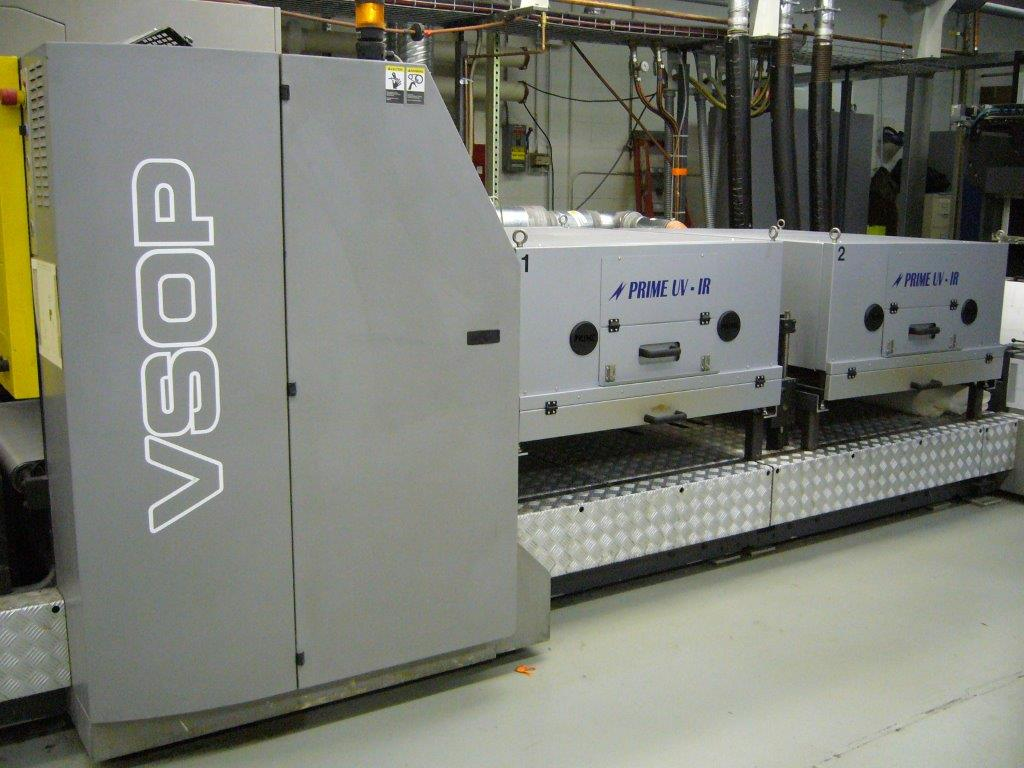 - PRIME IR Action Dryer System installed in the extended delivery after the coating unit on a Ryobi 750C-XL Sheetfed Press