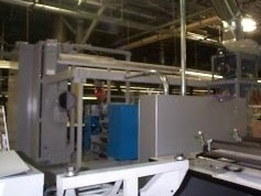 - PRIME IR Action Dryer System installed on a Muller Martini Web Press drying remoistened adhesives.