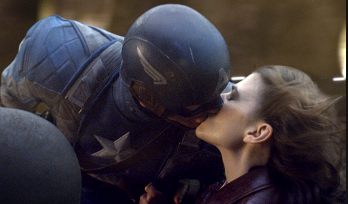 Captain America and Agent Carter exchanging microbiomes