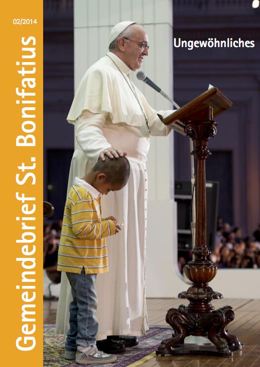Titelseite des Gemeindebriefes 2/2014 - Foto: L'Osservatore Romano.