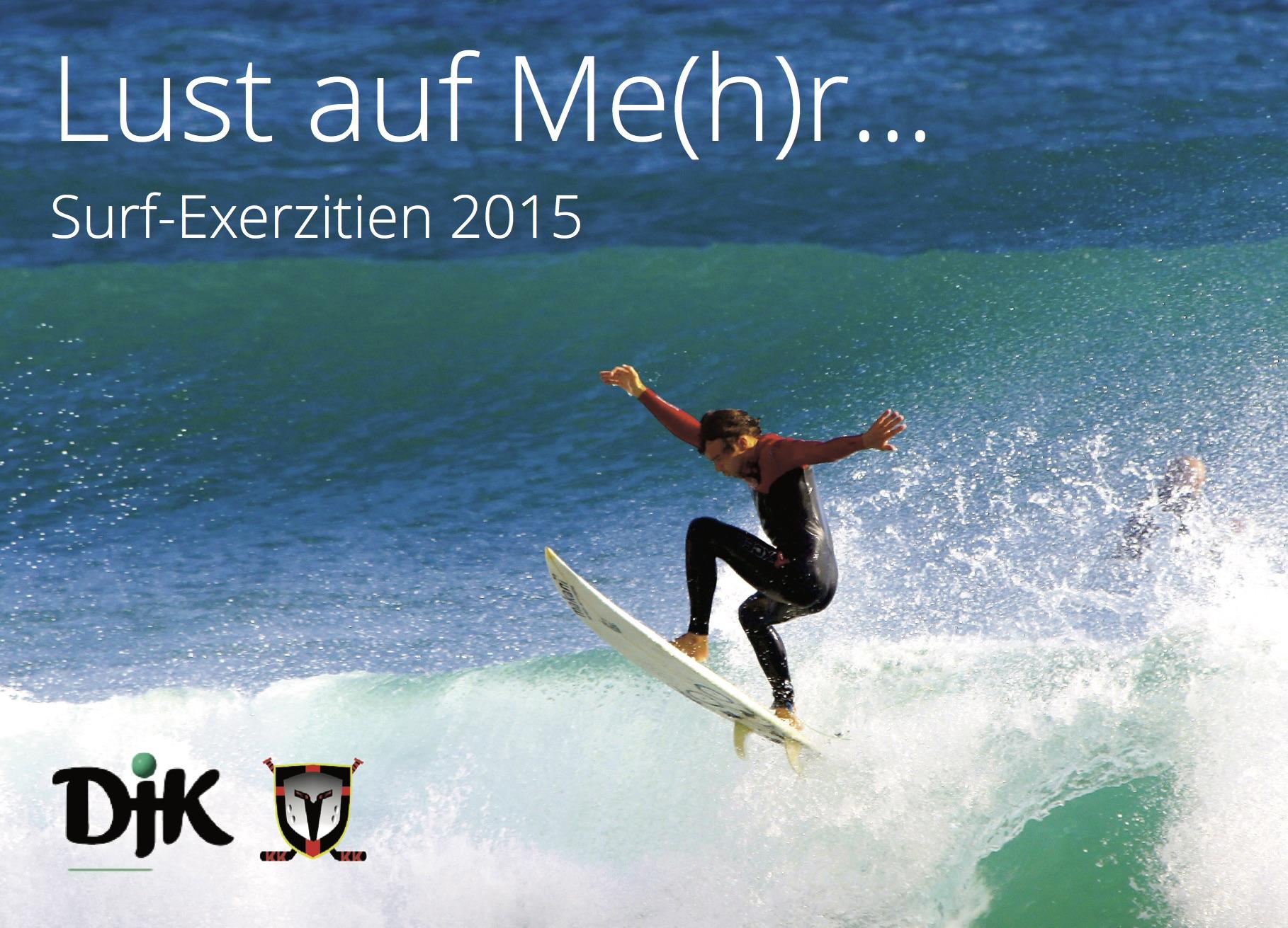 Postkarte Surf-Exerzitien. Foto: Jump around von mic-pic via Flickr. Lizenz: Creative Commons