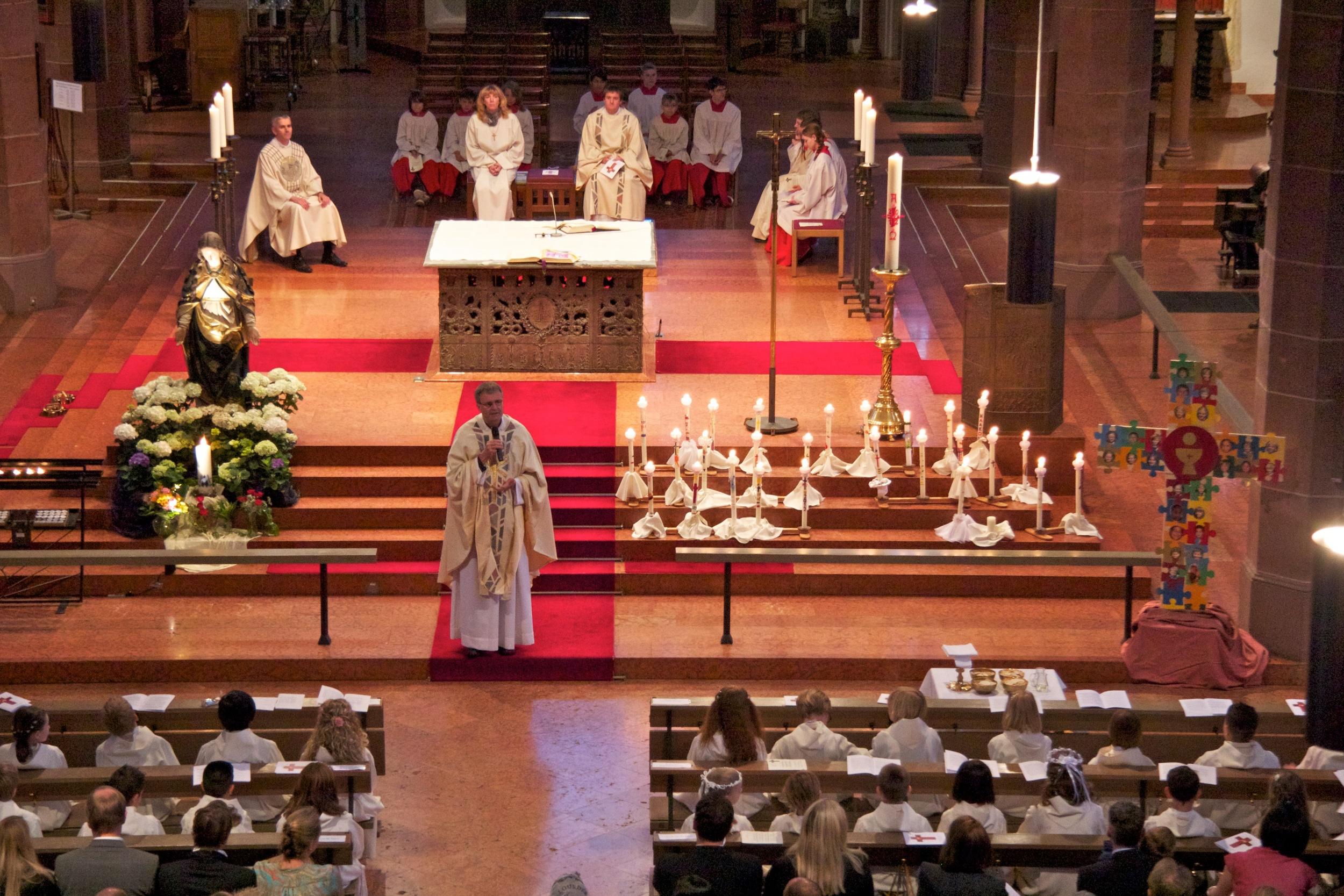 Erstkommuniongottesdienst 2012 in St. Bonifatius. Bild: B.Dahlhoff