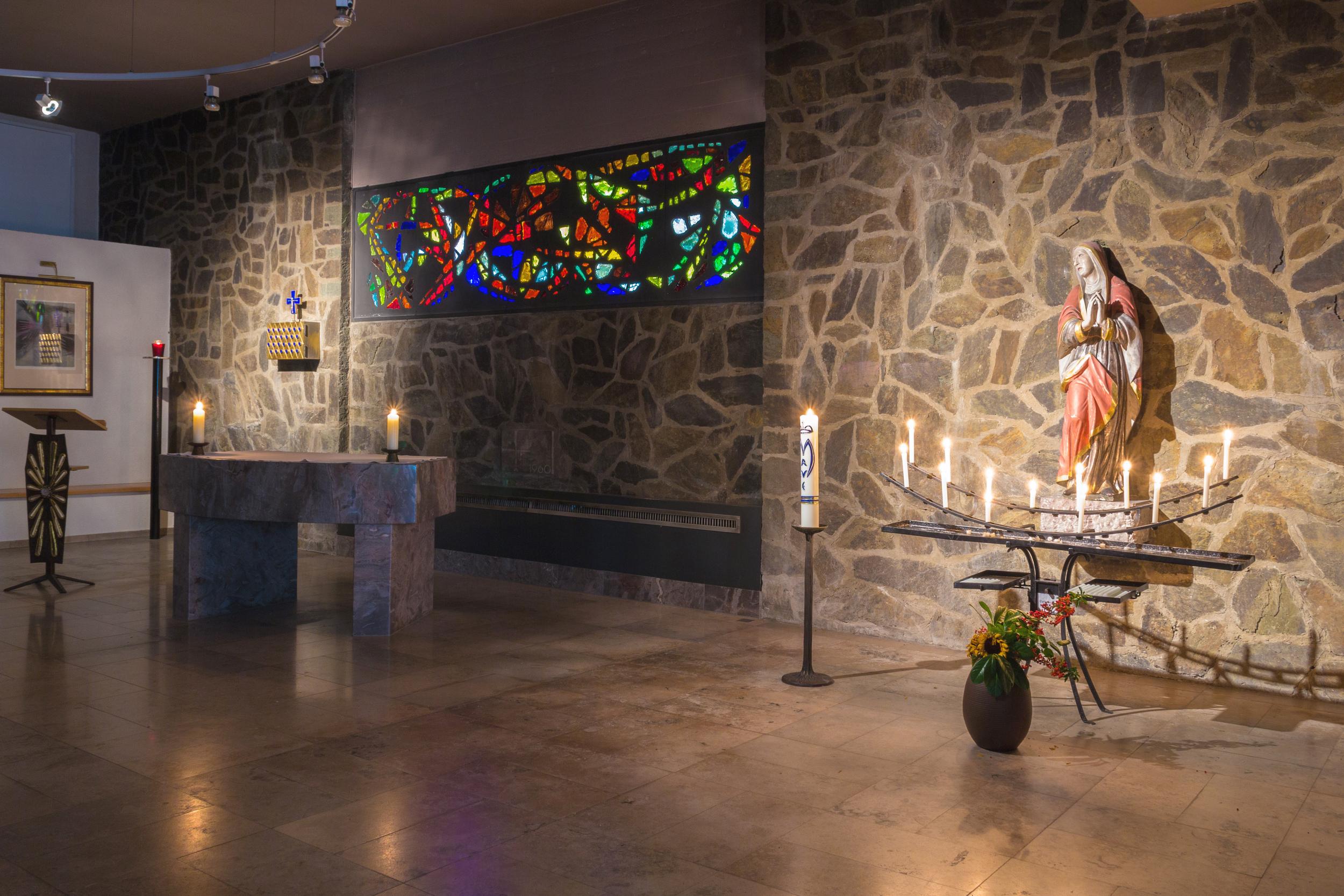 Krypta / Kapelle in St. Mauritius. Foto: B. Dahlhoff