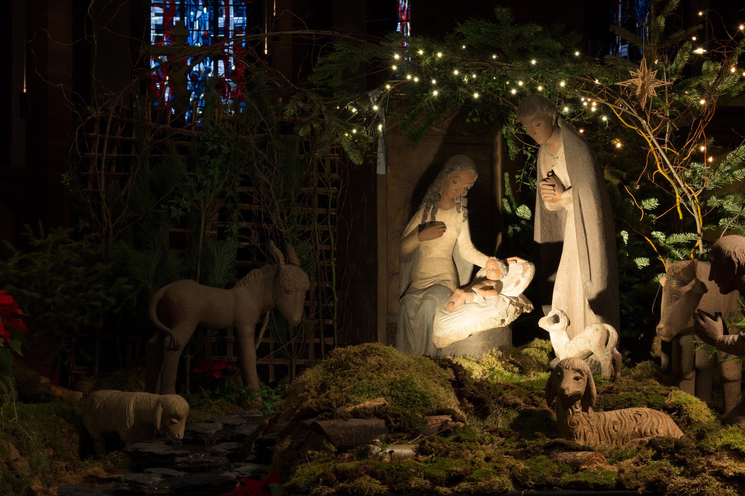 Weihnachtskrippe in St. Bonifatius