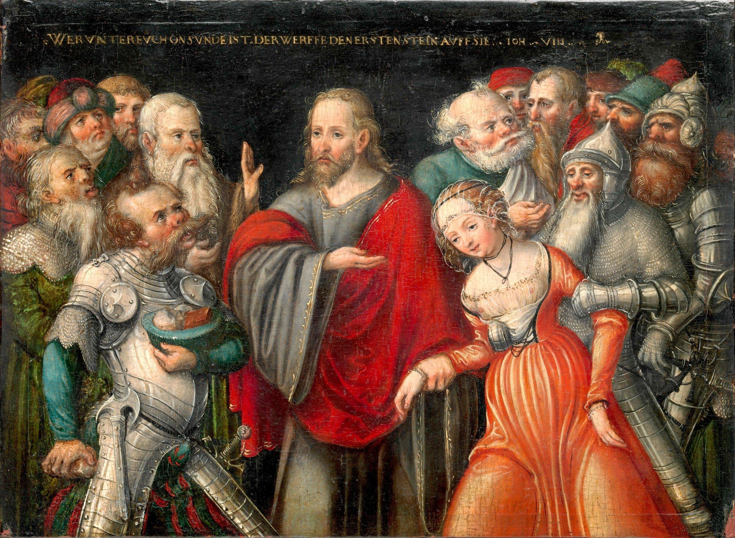 Lucas_Cranach_d.J._-_Christus_und_die_Ehebrecherin_(Metropolitan_Museum_of_Art).jpg