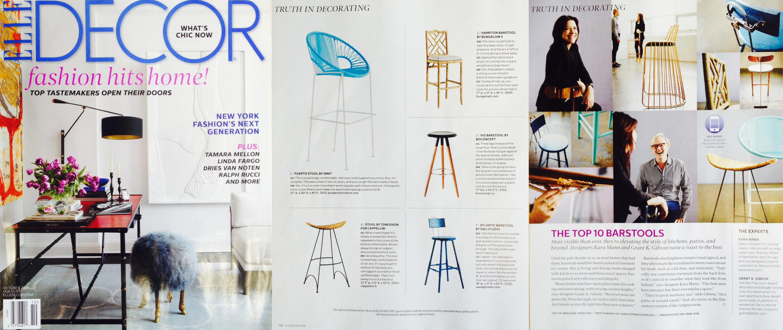 Top Ten Barstools - October 2014 Elle Decor