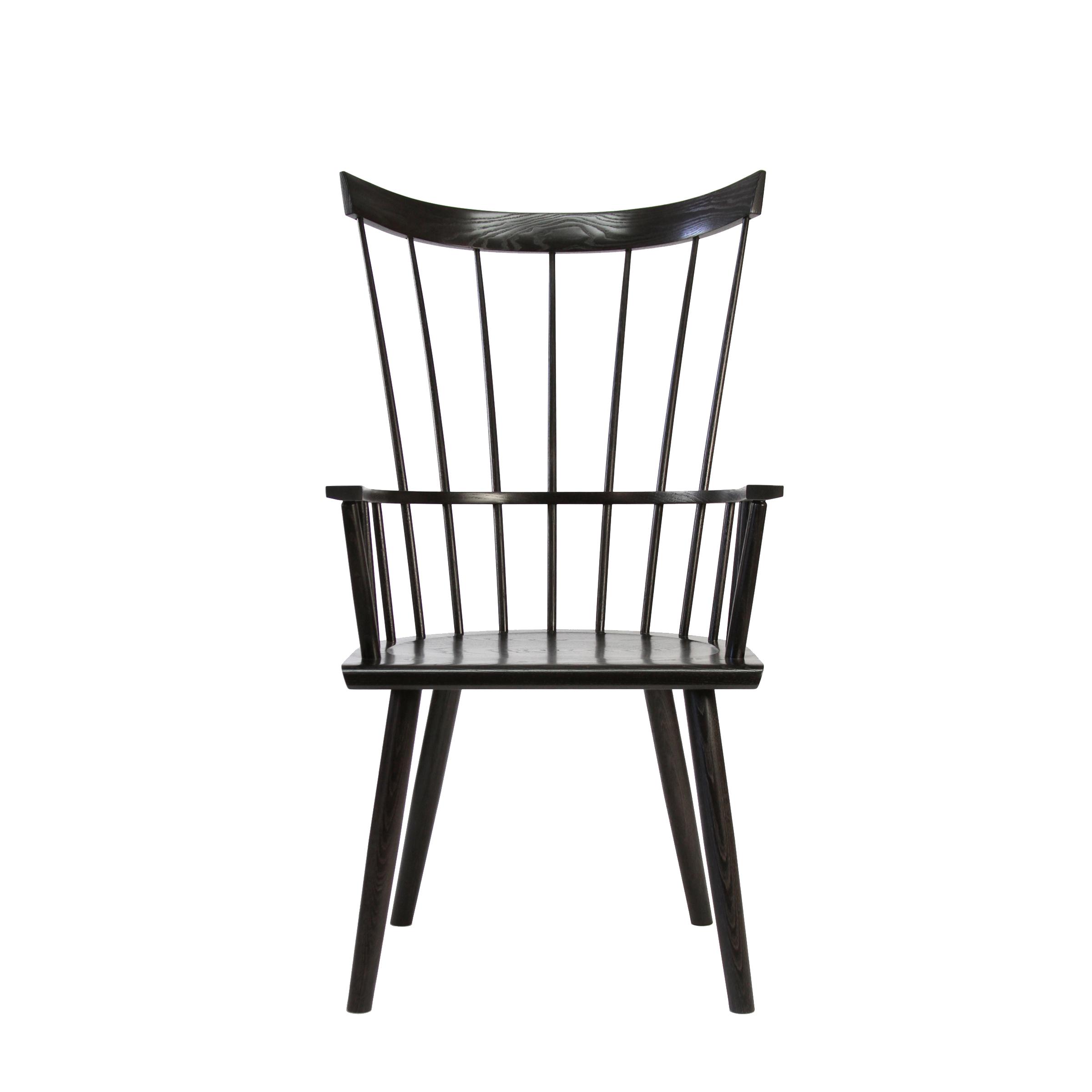 O&G Studio Colt High Back Highback Windsor Contemporary Dining Chair Armchair Large Beet Dark Burgundy Stain on Ash