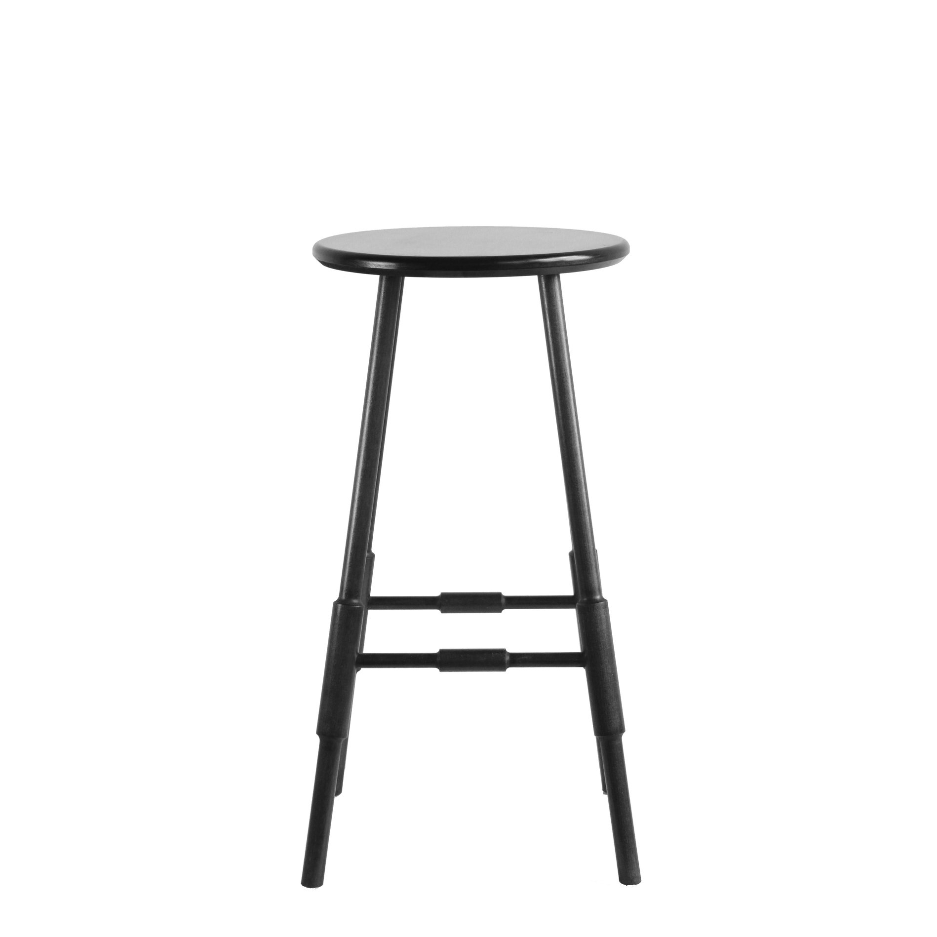 Atlantic Counter Stool 24 Black Stain Stained Windsor Bar