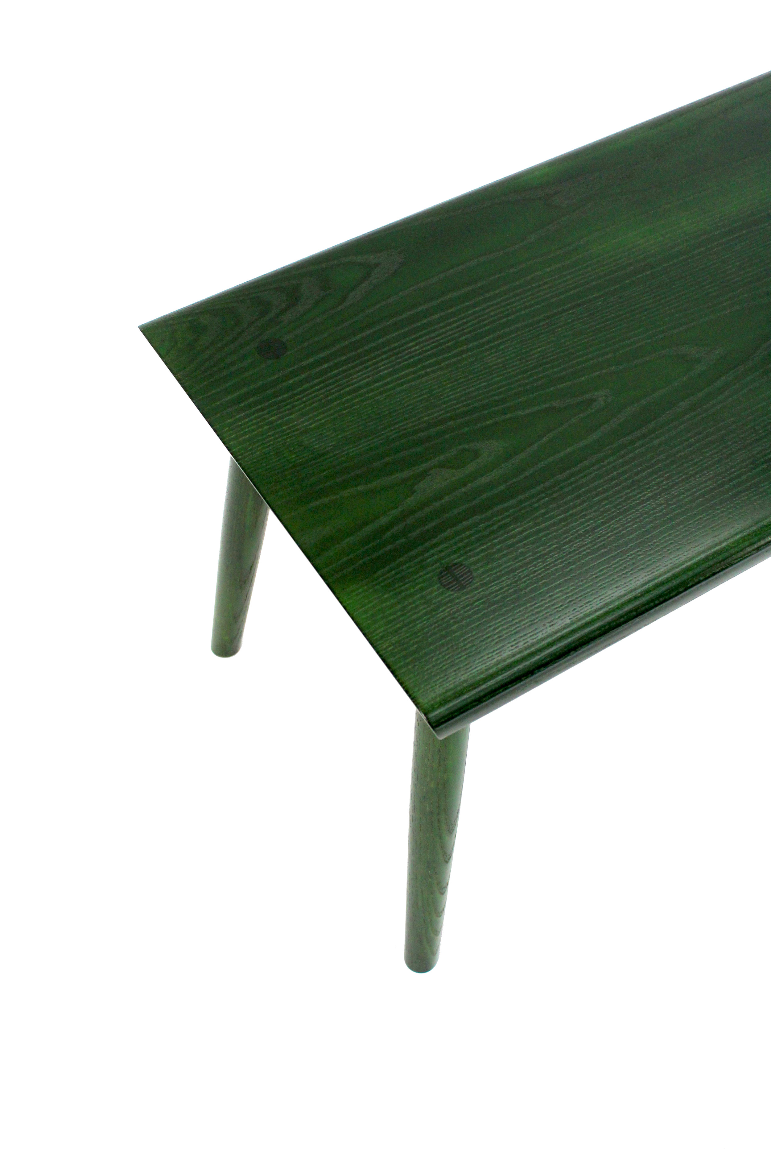 O&G Studio Buck Bench X Base Trestle Dining Bench 54 Loveseat Entry Bench Windsor Contemporary Side Americana Seating Modern Designed Design Interior Seating Ebonized Ash Hunter Stained