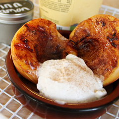 Grilled Cinnamon Peaches