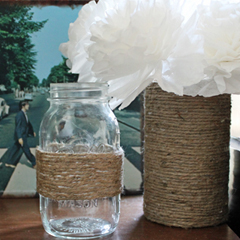 Jute-Wrapped Containers