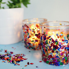 Confetti Candle Holder