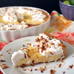 Lime Tart with Whipped Coconut Cream