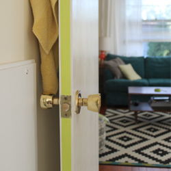 Embellishing a door with Washi Tape