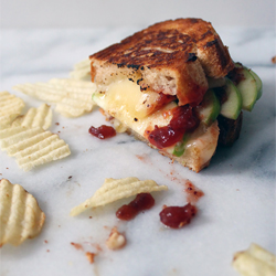 apple & Cranberry brie grilled cheese