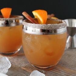 snap & cider cocktail