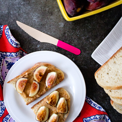 peanut butter and fig toast