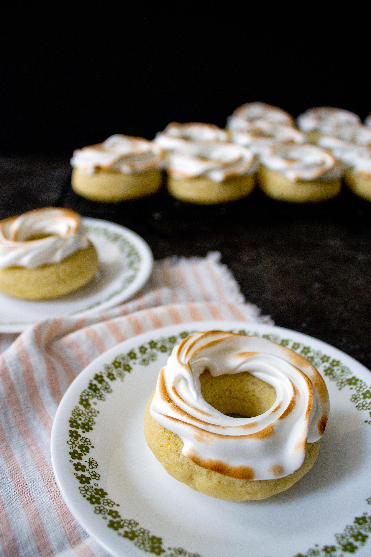 Lemon Meringue Donut via Unusually Lovely