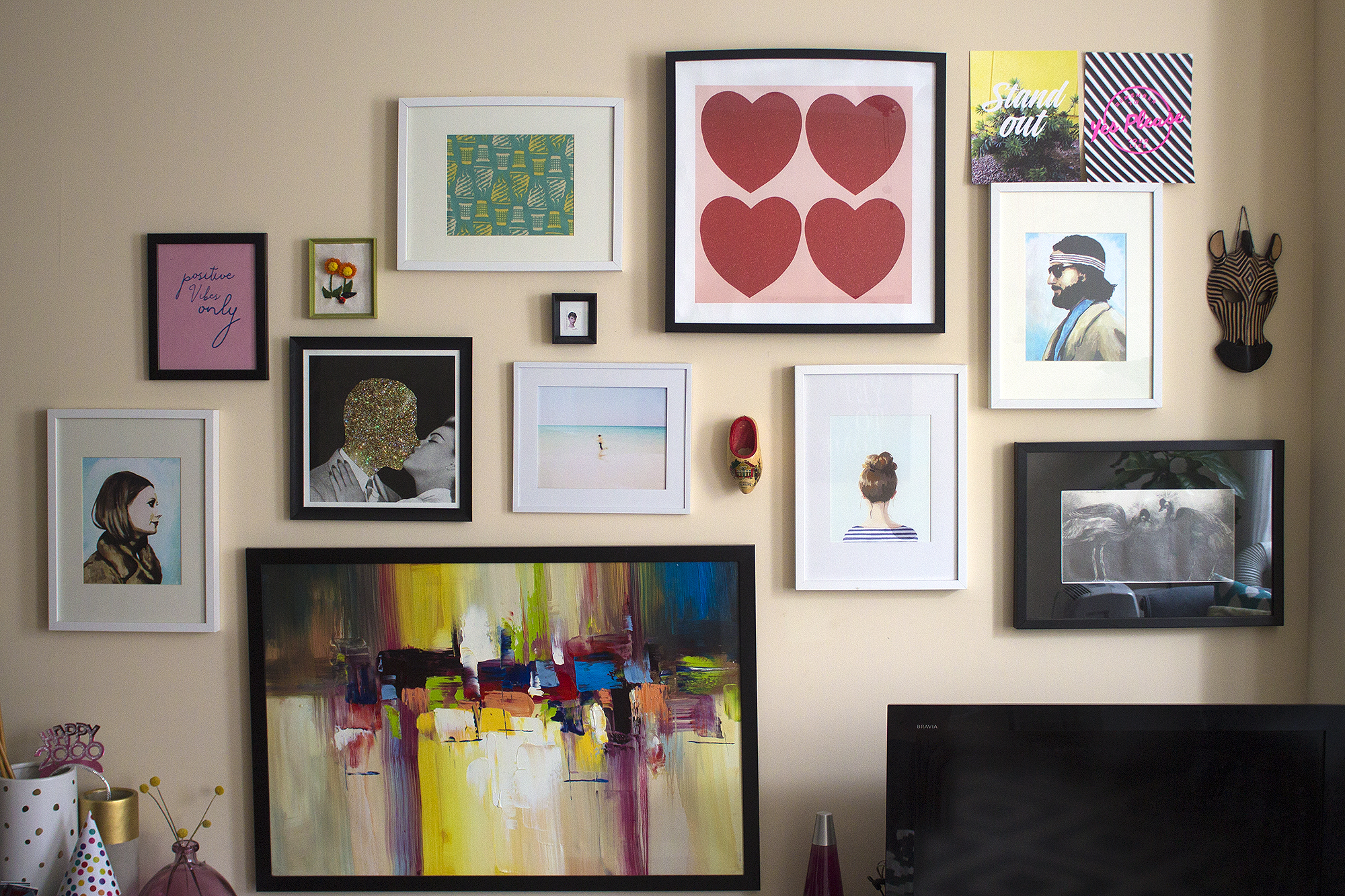 Gallery Wall via Unusually Lovely