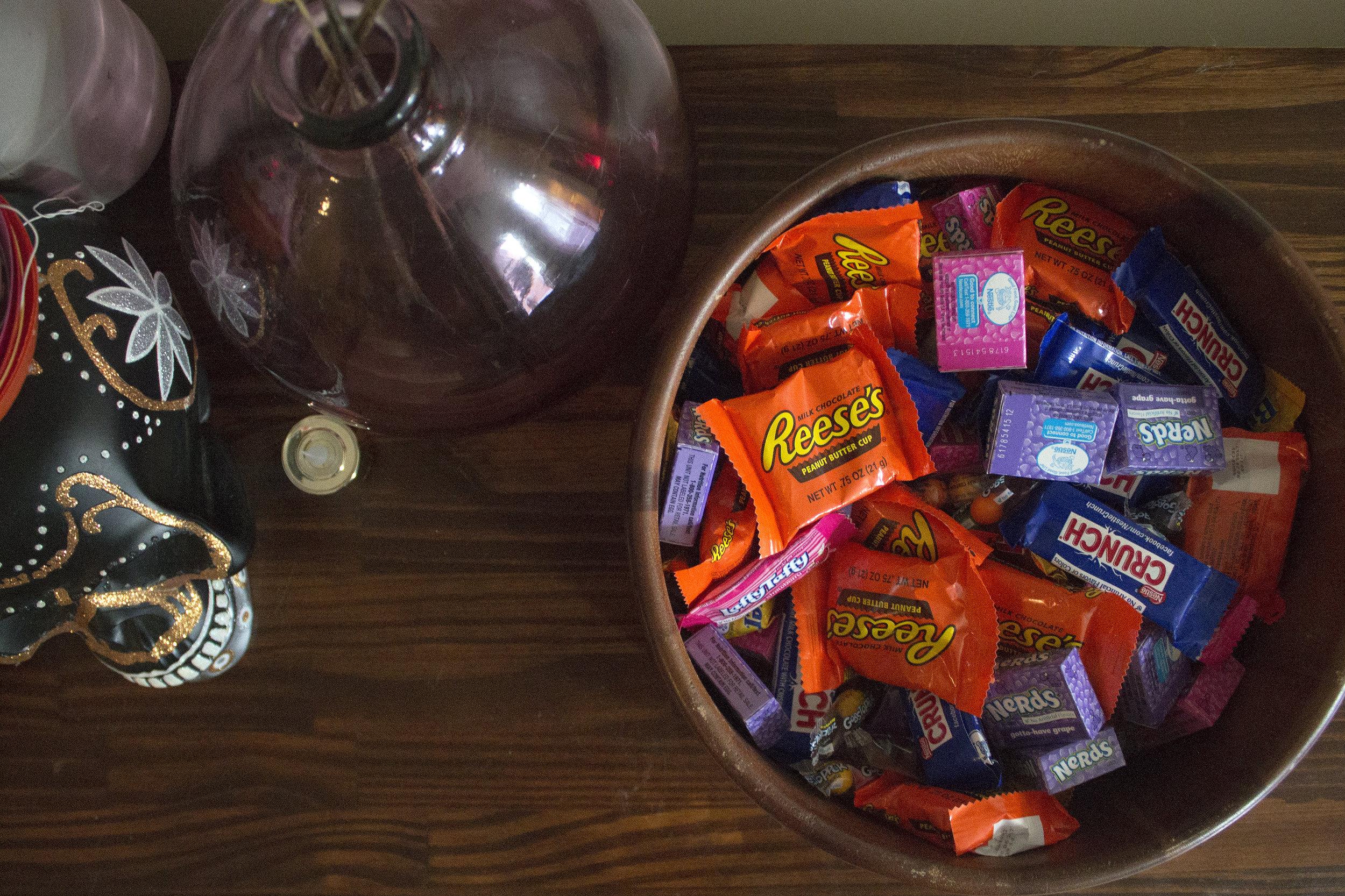 Halloween Candy via Unusually Lovely