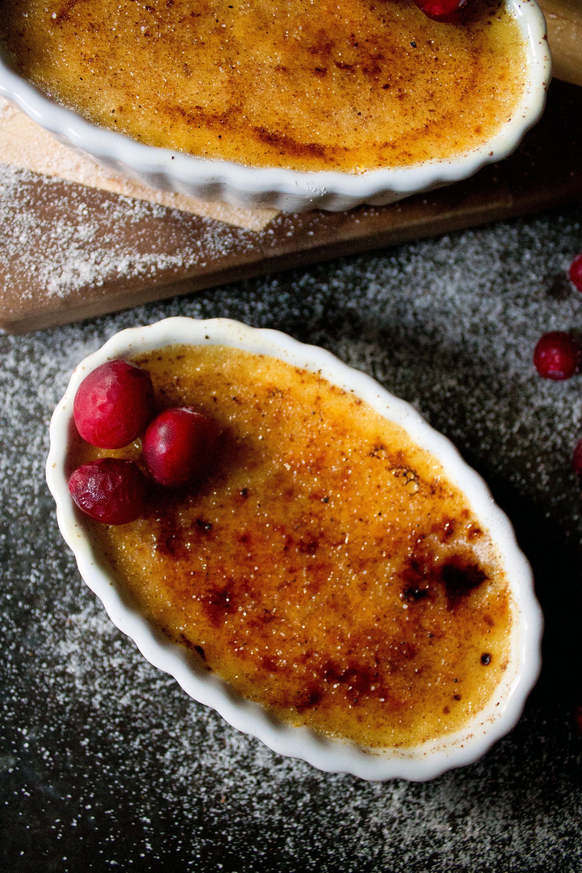 Creme Brulee with Eggnog for the holidays!