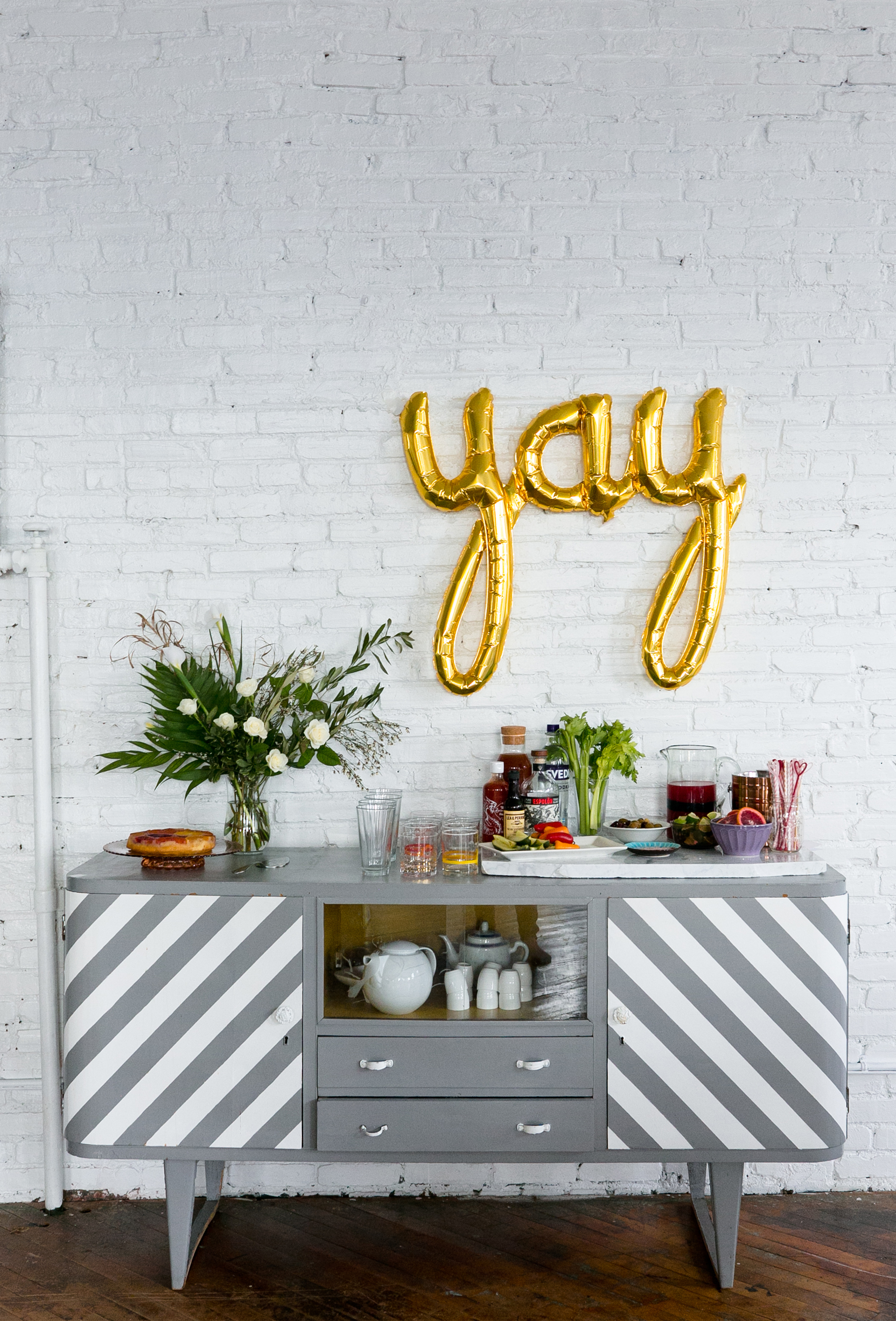Galentine's Day: Bar Area. Unusually Lovely Blog