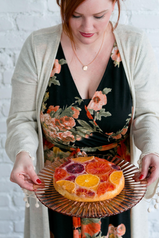 Citrus Upside Down Cake via Unusually Lovely
