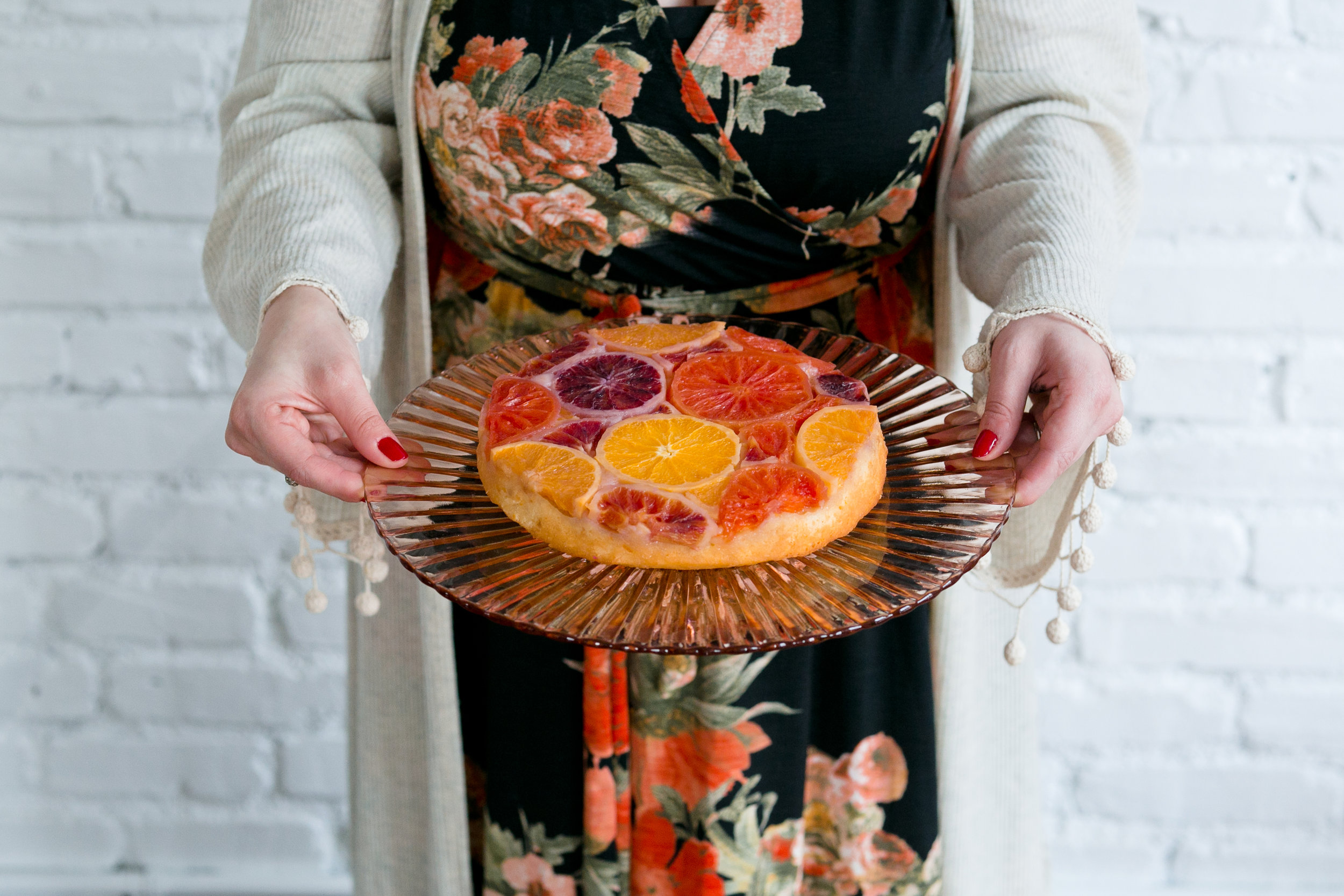 Citrus Upside Down Cake from Unusually Lovely