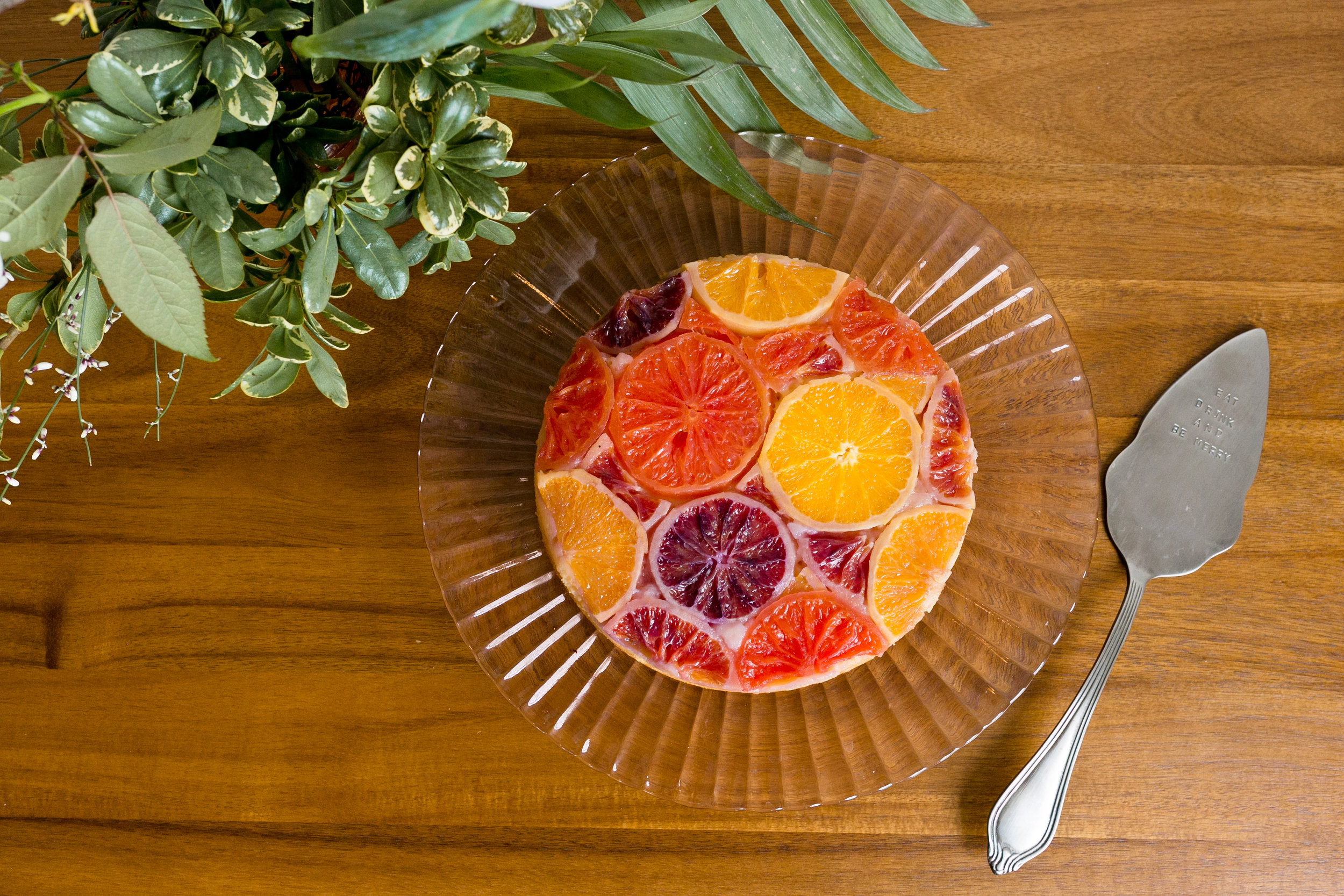 Recipe for a Citrus Upside Down Cake from Unusually Lovely
